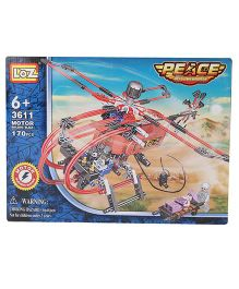 Loz Building Block Helicopter Kit - 170 Pieces