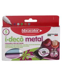 Fibracolor I Deco Metal Sketch Pens - Pack of 5