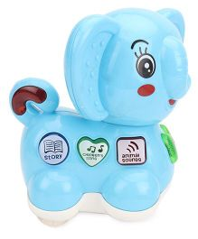Battery Operated Musical Toy Elephant Shape - Blue