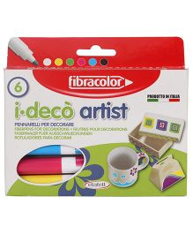 Fibracolor I Deco Artist Pens - Pack of 6