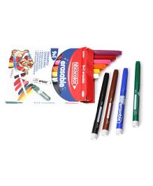 Fibracolor Erasable Magic Color Fine Nib Sketch Pens With Washable Ink - Pack Of 10