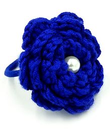 Magic Needles Flower & Pearl Rubberband - Blue