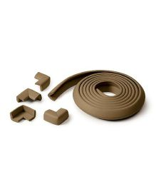 Prince Lionheart Table Edge Guard With 4 Corners - Chocolate Brown