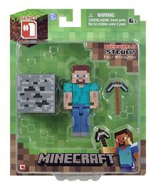 Minecraft Core Steve Action Figure with Accessory - Grey Blue