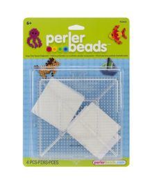 Perler BeadsBeads Large Clear Square Pegboards Pack Of 2 - White