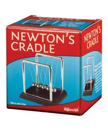 Toysmith Newton's Cradle Physics - Black Silver