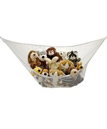 Handy Laundry Jumbo Toy Hammock Net Organize Stuffed Animals - White