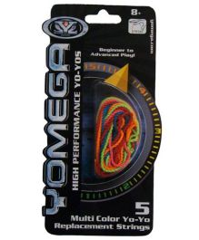 Yomega YoYo Replacement String Pack Of 5 - Multicolor