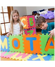 Mota Alphabet Floor Tile Puzzle Multicolour - 26 Pieces