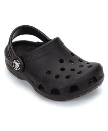 Crocs Clogs With Back Strap - Black