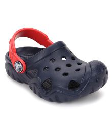 Crocs Crocs Clogs With Back Strap - Navy Red