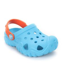 Crocs Crocs Clogs With Back Strap - Sky Blue Orange