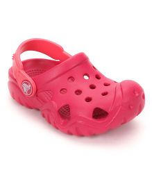 Crocs Clogs With Back Strap - Pink