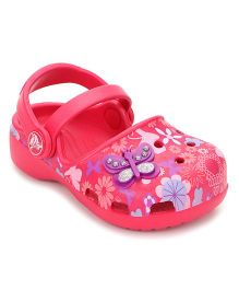Crocs Clogs Butterfly Motif - Pink