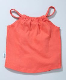 Cuddledoo Halter Neck Jersey Top - Coral