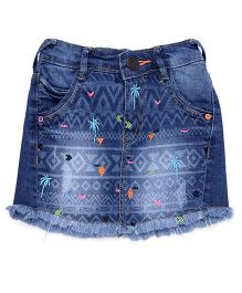 Vitamins Skirt With Pockets - Blue