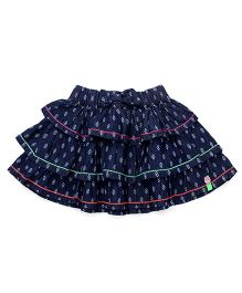 Vitamins Skirt With Layered Design - Blue