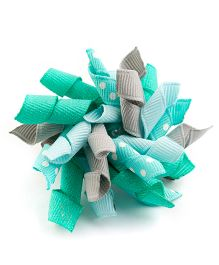 Ribbon Candy Adorable Alligator Clip - Aqua Green