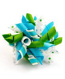 Ribbon Candy Adorable Alligator Clip - Blue & Green