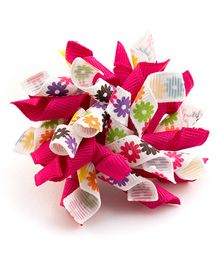 Ribbon Candy Attractive Floral Alligator Clip - Pink
