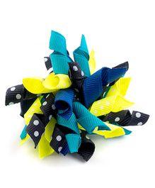 Ribbon Candy Cute Alligator Clip - Blue & Yellow