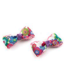 Ribbon Candy Vibrant Alligator Clip - Multicolour