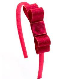 Ribbon Candy Stylish Hairband - Hot pink