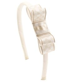 Ribbon Candy Stylish Hairband - White