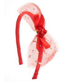 Ribbon Candy Stylish Hairband - Red