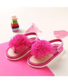 LCL By Walkinlifestyle Big Flower Applique Slip On - Pink