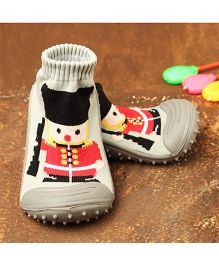 Little Sparkles by Walkinlifestyle Sock Shoes With Design - Grey