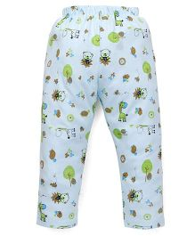 Babyhug Pajama Allover Print - Aqua Blue