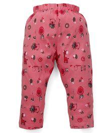 Babyhug Pajama Allover Print - Pink