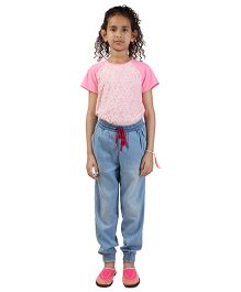 My Lil Berry Denim Lounge Pants - Blue