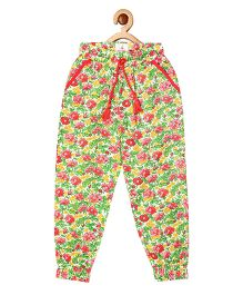 My Lil Berry Floral Printed Lounge Pajamas - Multicolor