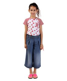 My Lil Berry Denim Culottes Pants - Blue