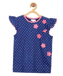 My Lil Berry Short Sleeves Polka Dot T-Shirt - Blue