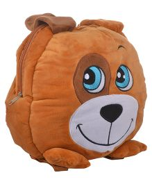 Soft Buddies Plush Soft Toy Bag With Doggy Design Brown - 38.1 cm