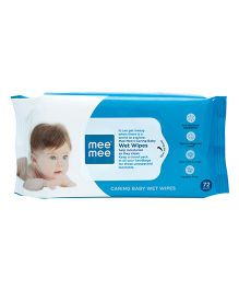 Mee Mee Caring Baby Wet Wipes Aloe Vera - 72 Pieces