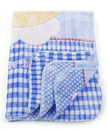 Mee Mee Blanket Bunny With Moon Print - Blue