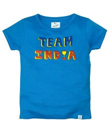 Zeezeezoo Team India T-Shirt - Blue