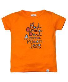 Zeezeezoo Dadi Amma Dadi Amma Maan Jao T-Shirt - Orange