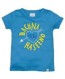 Zeezeezoo Bachna Ae Haseeno T-Shirt - Blue