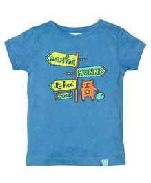 Zeezeezoo Nanha Munna Rahi Hoon T-Shirt - Blue