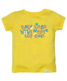Zeezeezoo Baby Baby Baby Mujhe Log Bole Onesie - Yellow