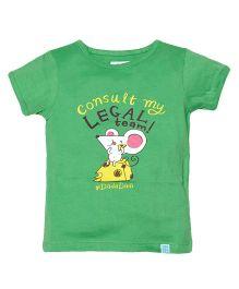 Zeezeezoo Consult My Legal Team T-Shirt - Green