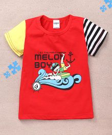Superfie Melon Boy Printed Tee - Red