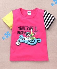 Superfie Melon Boy Printed Tee - Hot Pink