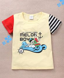 Superfie Melon Boy Printed Tee - Yellow