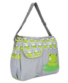 Diaper Bag Frog Design - Green & Grey